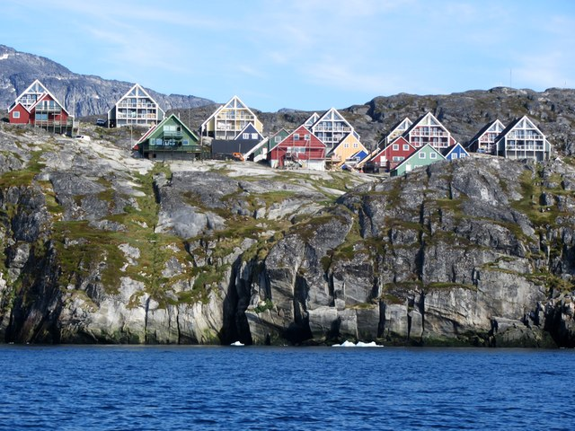 A view from the Nuuk fjord in Greenland