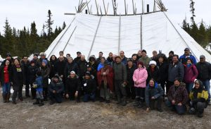 Participants of Aashukan, an exchange hosted by the Crees of Northern Quebec in Canada. Photo: Niskamoon Corporation / Aashukan.