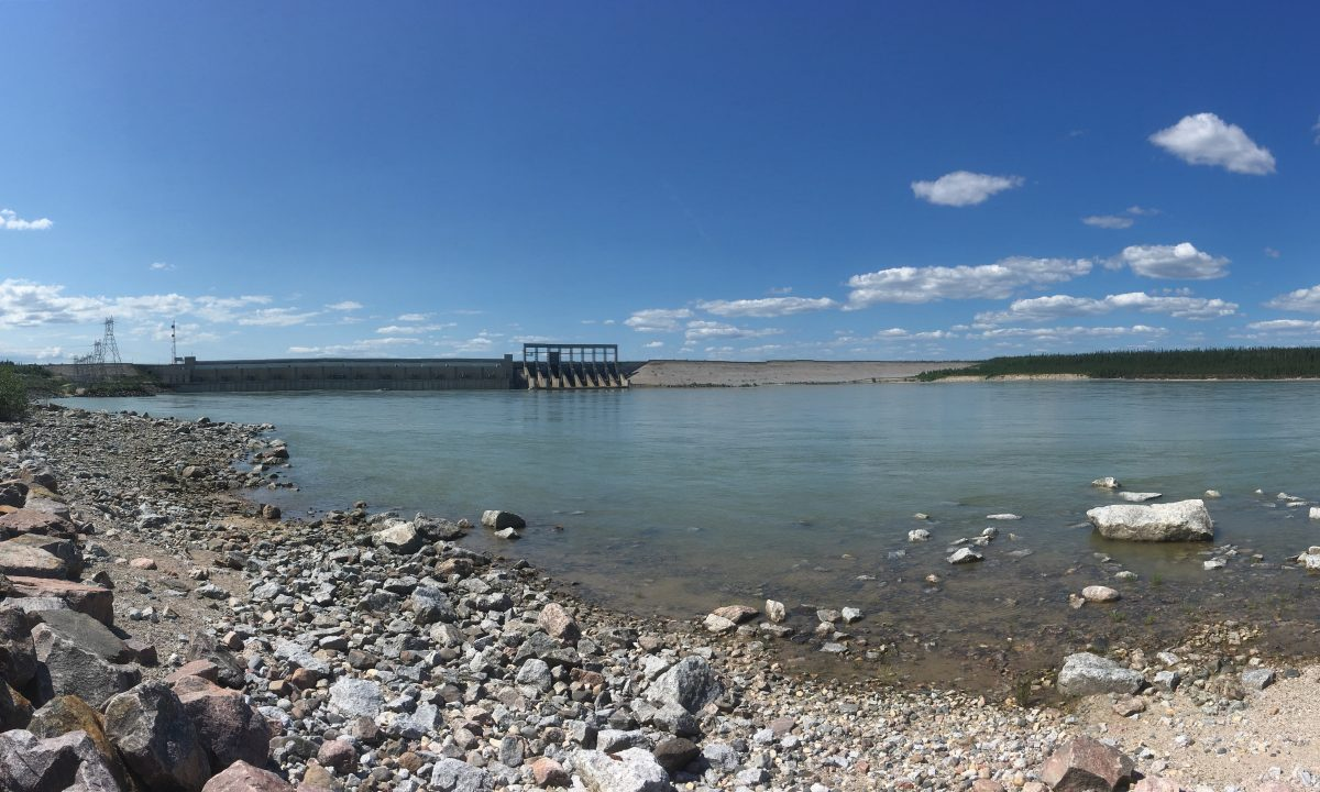 Damming of the Nelson River near Gillam. (photo by author)
